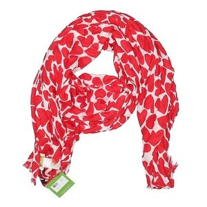 KATE SPADE~heart to heart~OBLONG SCARF WRAP~NWT